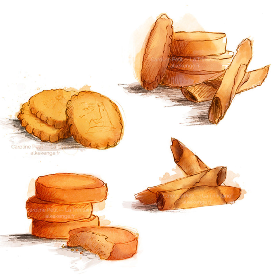 Illustration de biscuits pour La Trinitaine